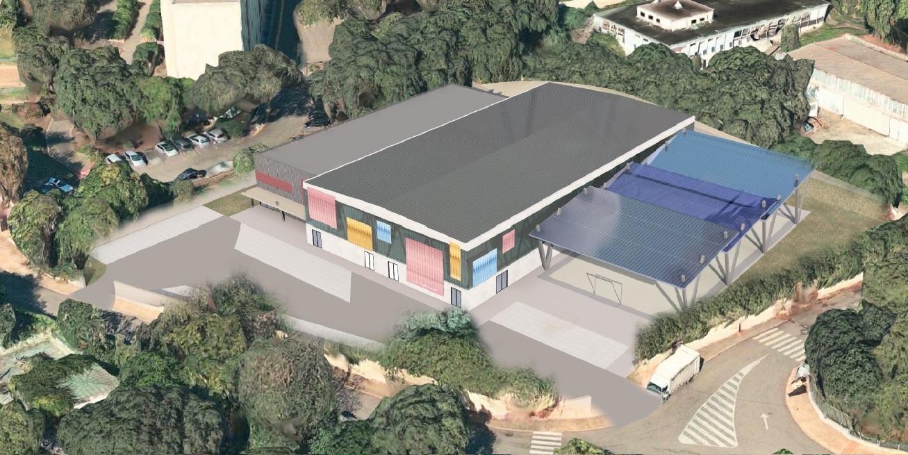 Le futur COSEC Pepito Ferretti dont les travaux commenceront le 1er avril pour s'achever en 2020
