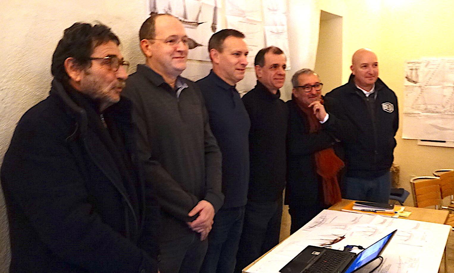 Les réprésentants de la Fondation du Patrimoine, de Vito et de A Madunetta