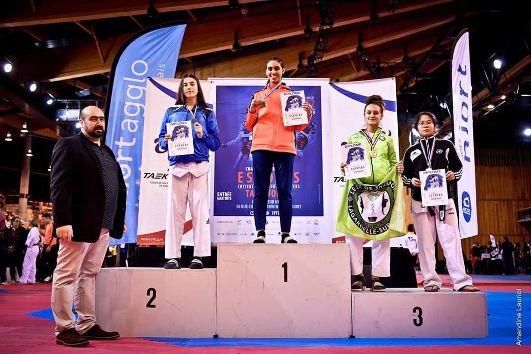 La bastiaise Francesca-Maria Franceschi sur la 2ème marche du podium à Niort