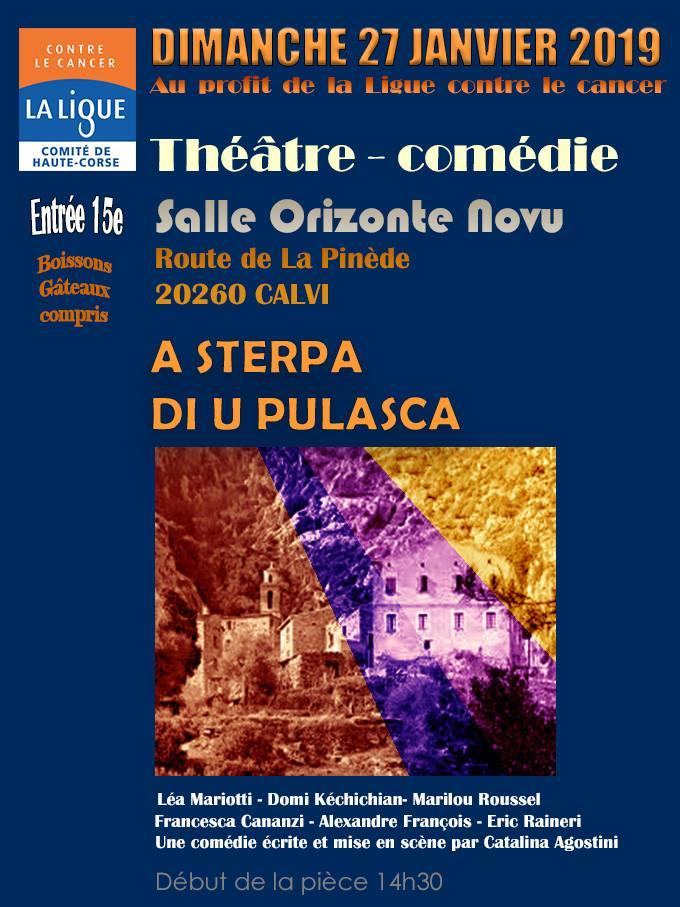 Pièce de théâtre au profit de la Ligue contre le cancer le 27 janvier à Calvi