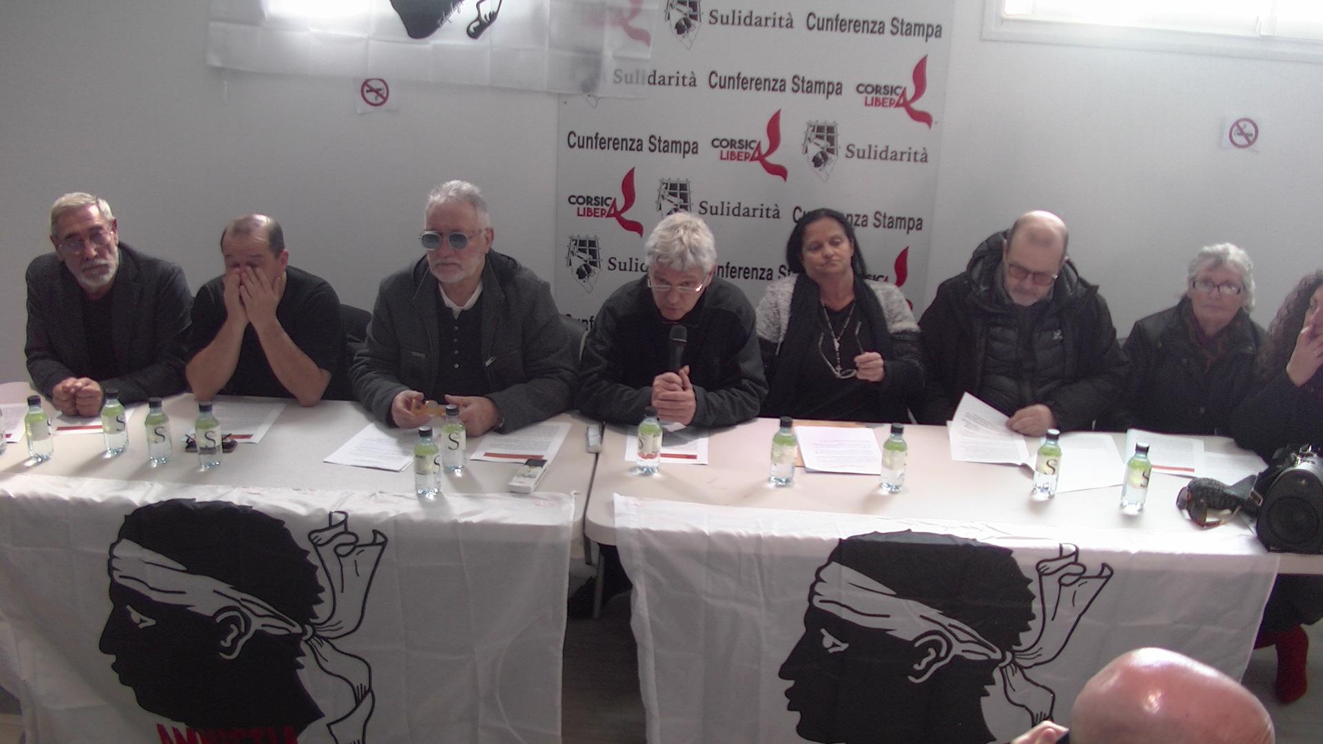 Corsica Libera et l'Associu Sulidarità demandent  la création d'une commission dédiée à la libération des prisonniers politiques