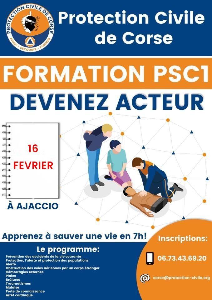 A Ajaccio la Protection Civile de Corse organise une formation aux gestes de premiers secours