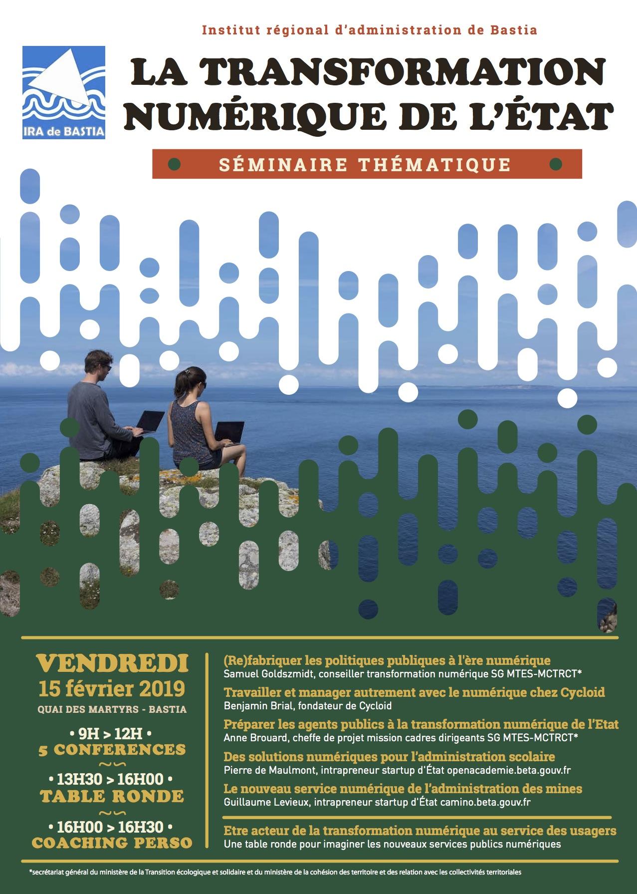 Une conférence sur la Transformation numérique de l'Etat ce vendredi à l'Ira de Bastia