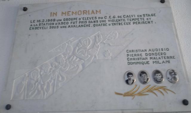Il y a 50 ans la dramatique avalanche d'Asco emportait quatre collégiens de Calvi