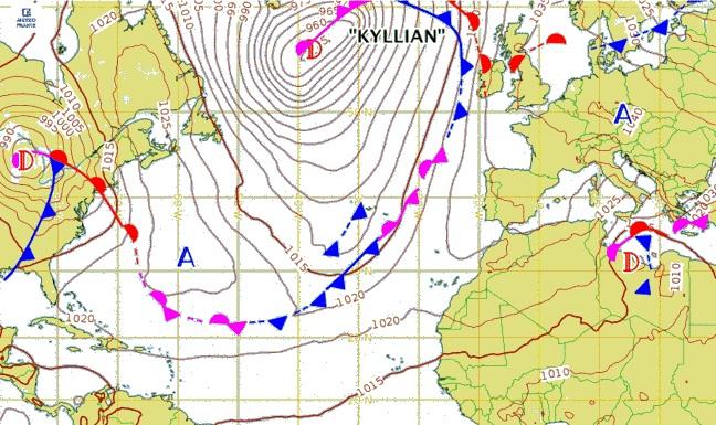 Carte météo pour dimanche 24 février