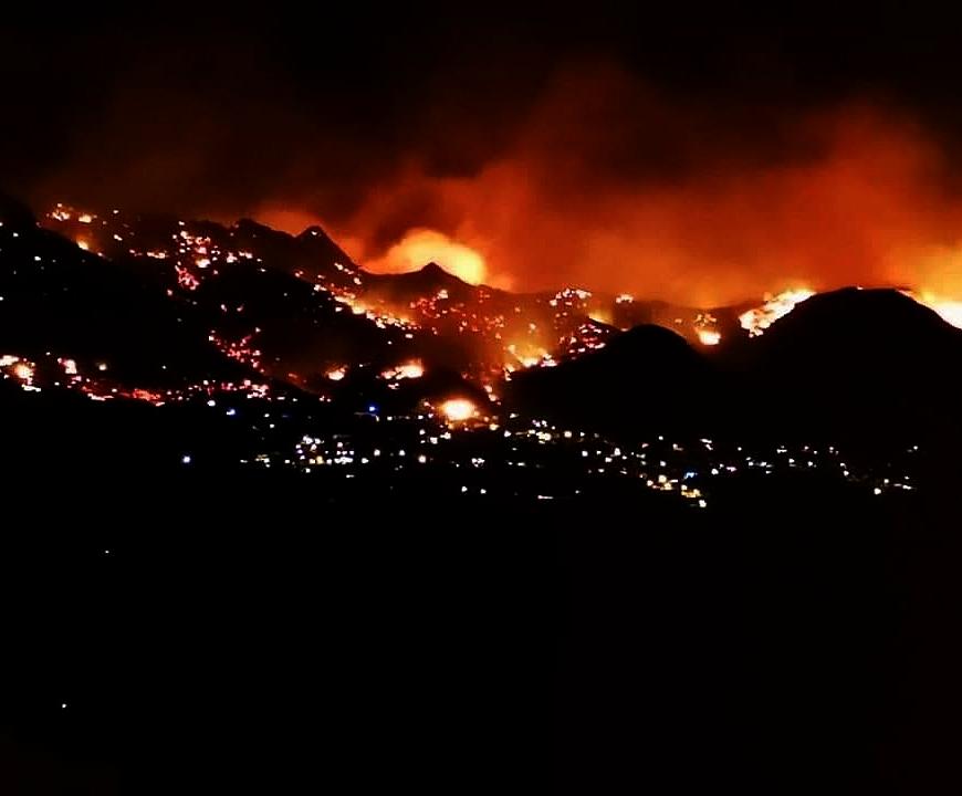 Décor apocalyptique à Calenzana
