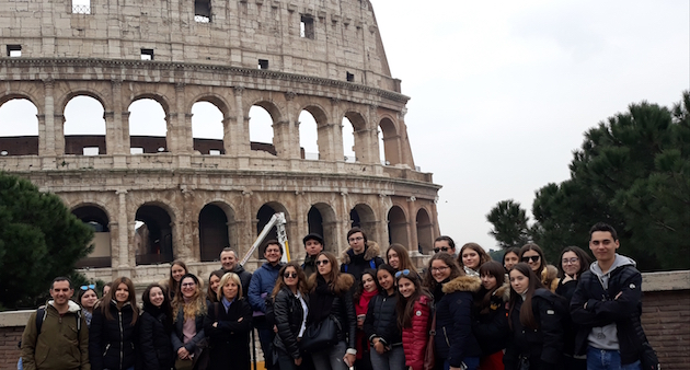 Les vacances romaines du Lycée Jeanne d'Arc de Bastia