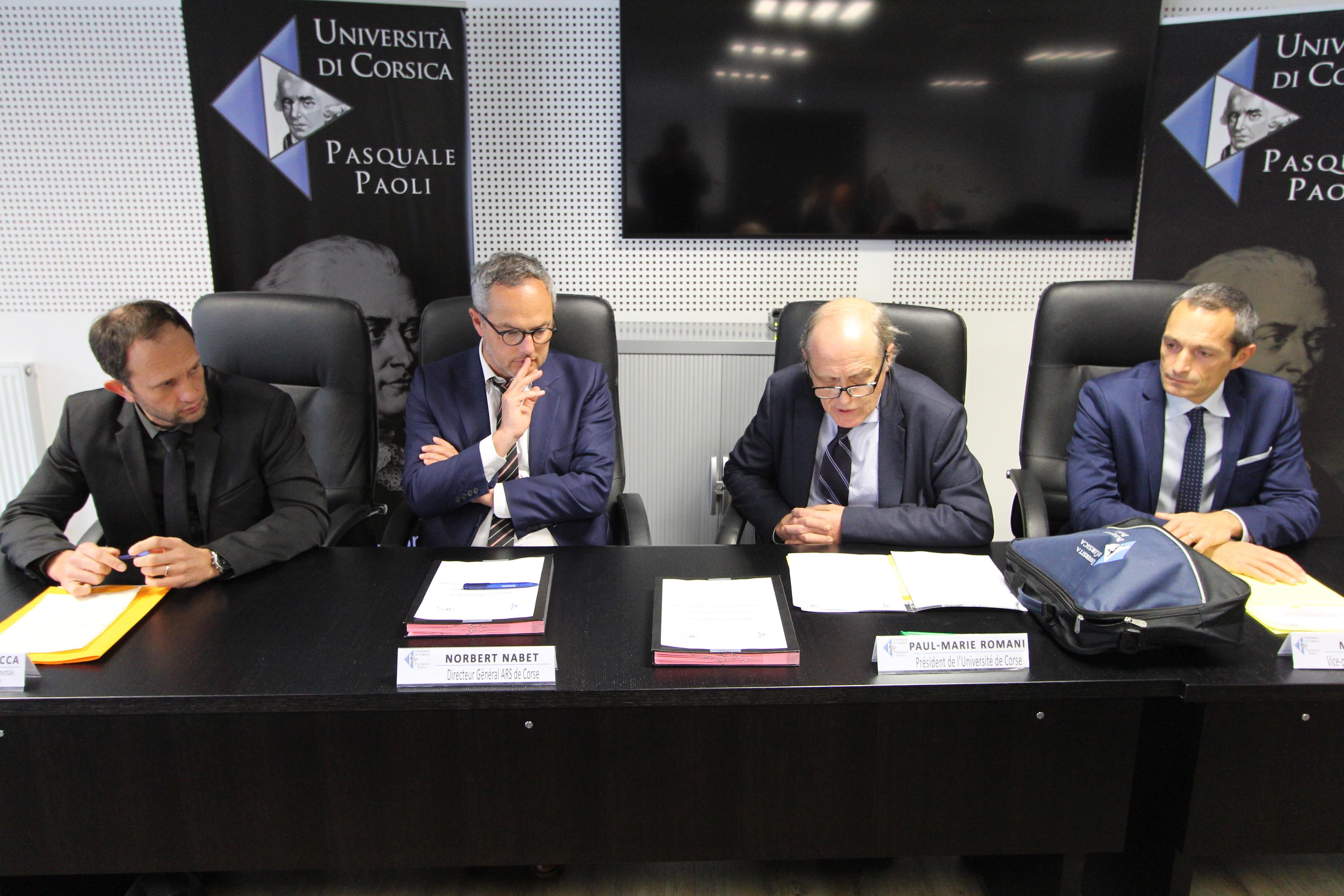 Une  convention-cadre de partenariat entre l'ARS de Corse et l'Université
