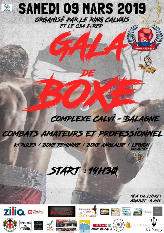 Gala de boxe  samedi 9 mars  à Calvi