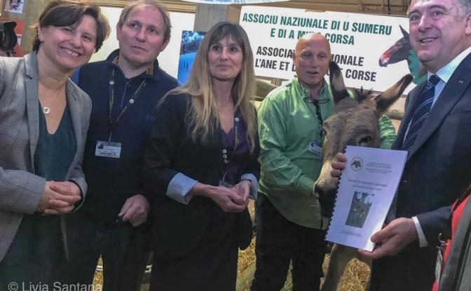 La ministre des sports, Elizabeth Torelli,Olivier Fondacci et le ministre de l'agriculture