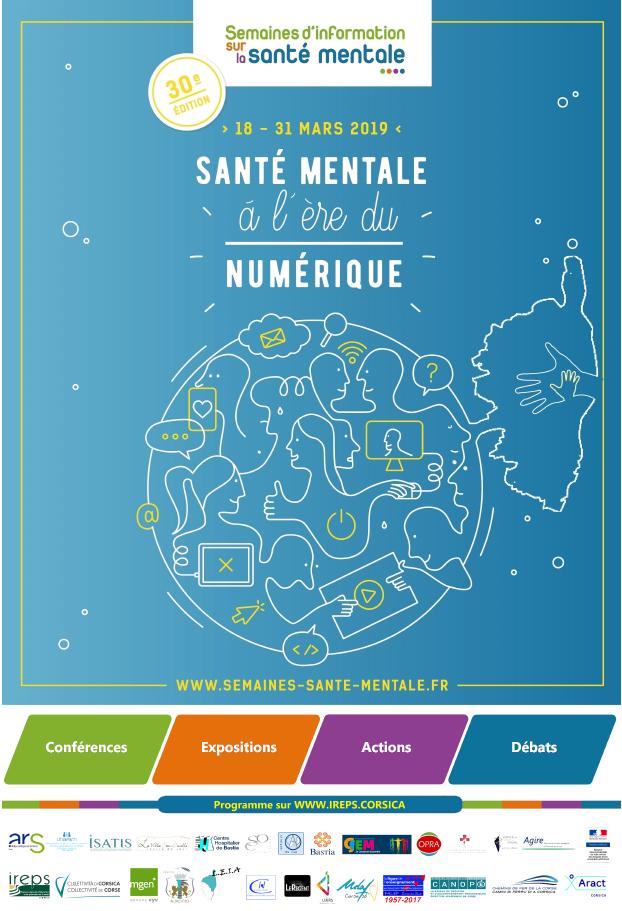 Santé mentale à l'ère du numérique : Programme des manifestations corses pour les SISM 2019