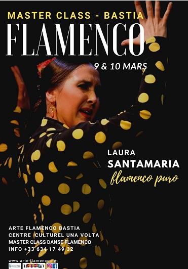 Bastia : Laura Santamaria,  talentueuse danseuse andalouse, invitée de Arte Flamenco !
