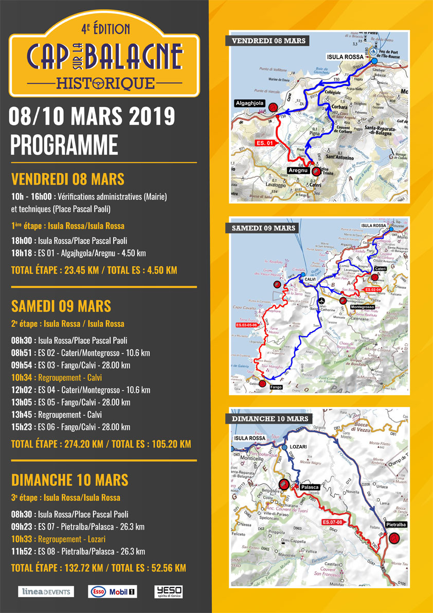 4e édition du Rallye Historique Cap sur la Balagne du 8 au 10 mars