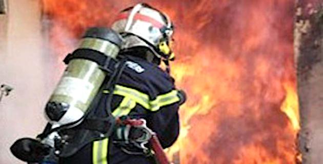 Fuite  de gaz enflammée dans la cuisine d'un appartement  à Bastia-Lupino