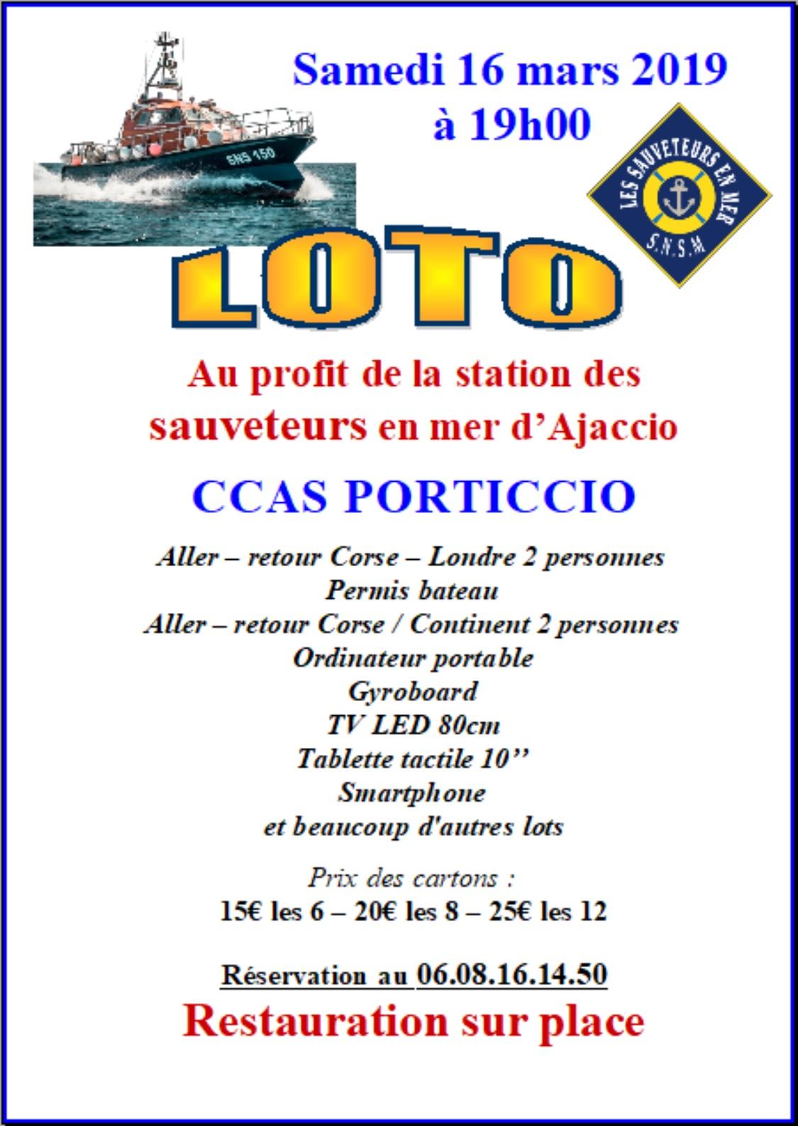 Porticcio : Loto au profit de la station des sauveteurs en mer d'Ajaccio ce samedi