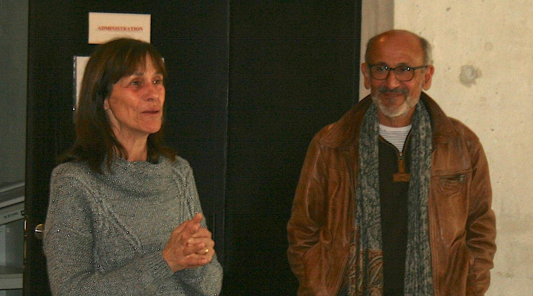 La conservatrice du musée, Janine de Lanfranch