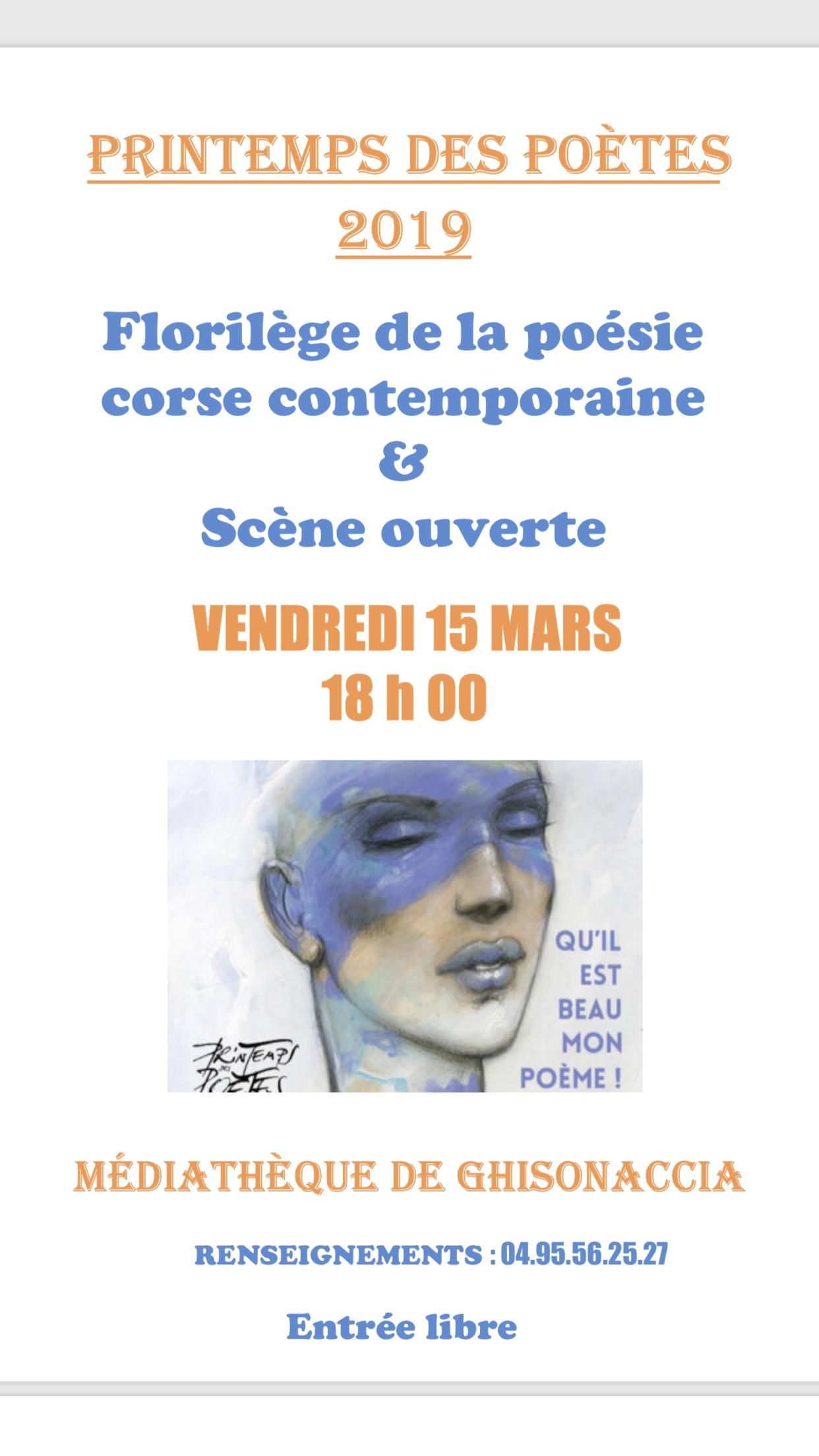 Le 20ème printemps des poètes fait escale à Ghisonaccia