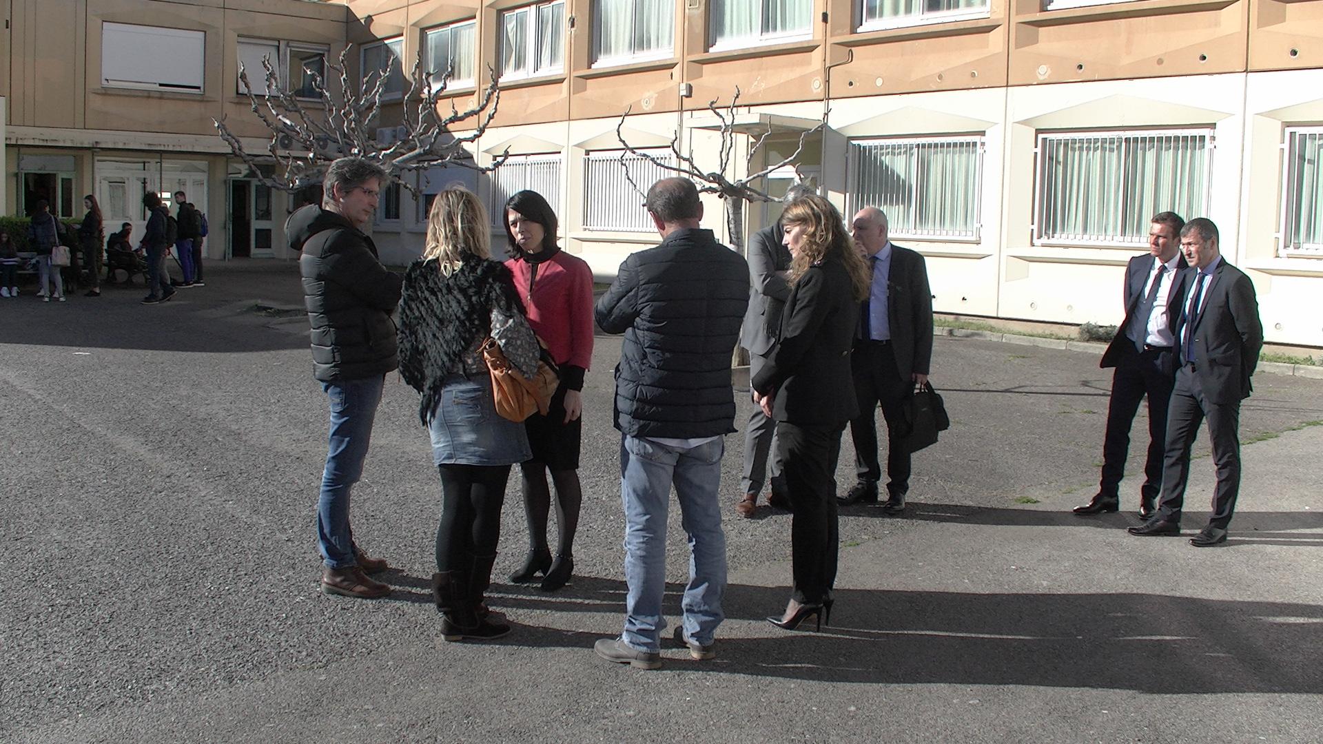 La rectrice a rencontré élèves et professeurs du lycée Giocante