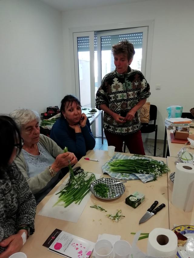 La Marie Do Balagne à la recherche de plantes sauvages à Pointe Saint-François