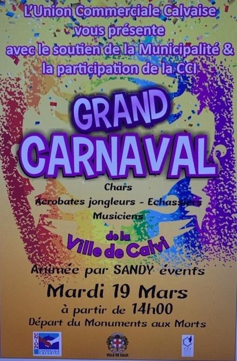Carnaval de l'Union Commerciale Calvaise le 19 mars