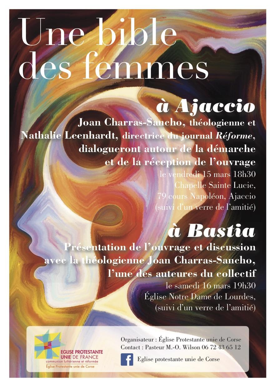 "Ajaccio : Joan Charras Sancho lis ""La Bible de femmes"" ce vendredi"