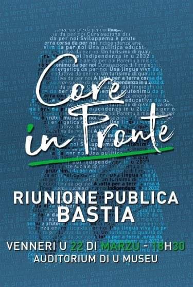 Réunion publique Core In Fronte à Bastia ce vendredi