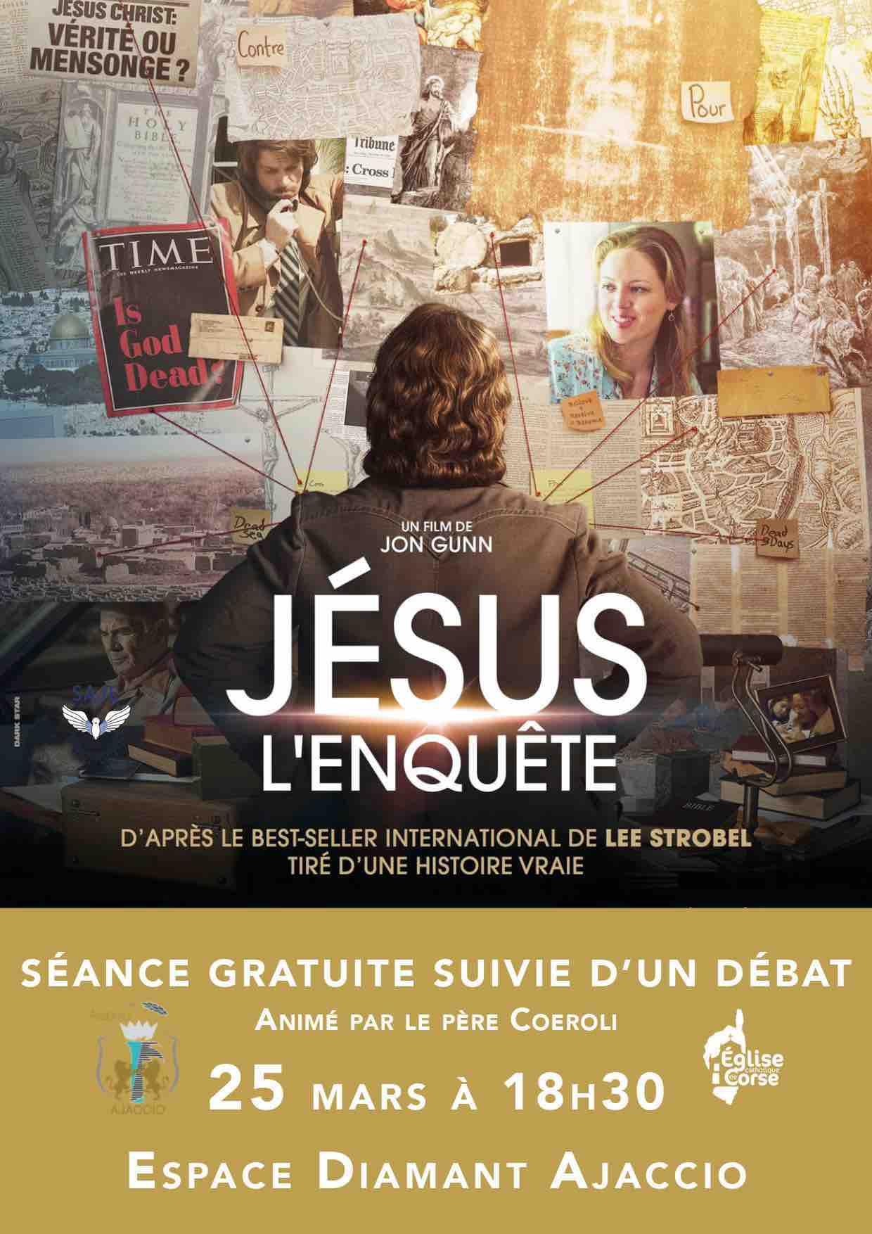 Jésus l'enquête : séance ciné et débat le 25 mars à l'espace Diamant d'Ajaccio