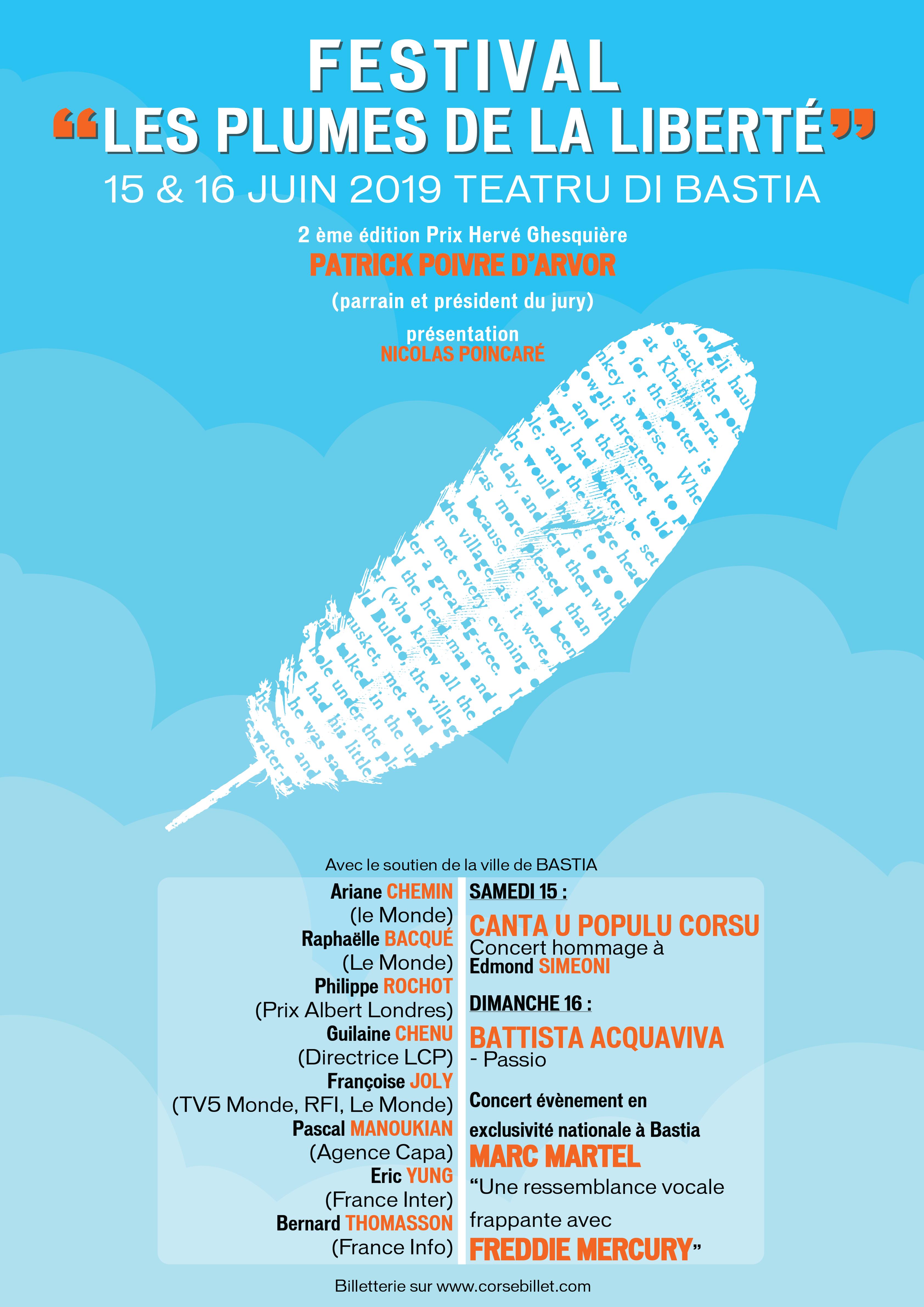 Bastia : Le Festival « Les plumes de la liberté » lève le voile sur son programme