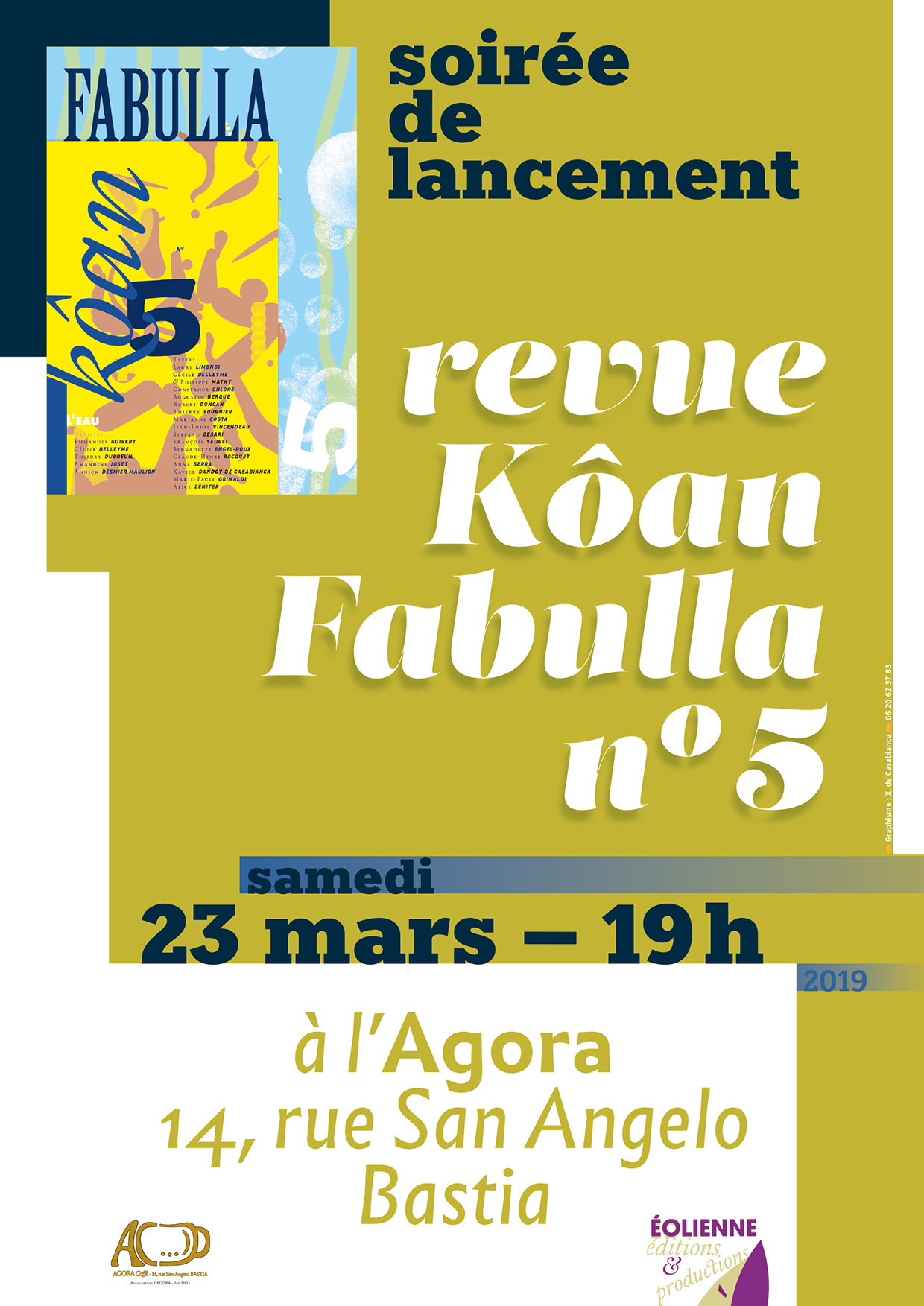 Soirée de lancement de la revue Fabulla-Kôan