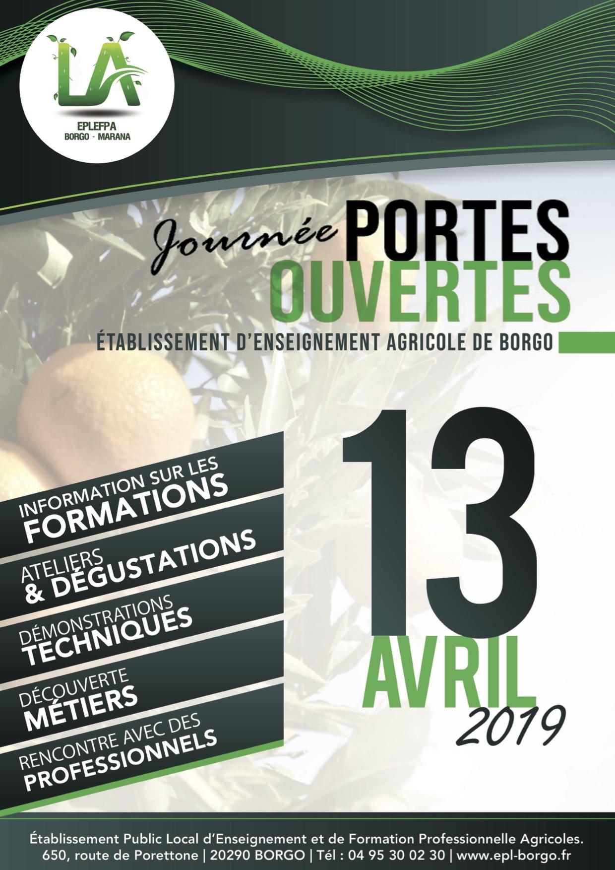 A Borgo le 13 avril portes grandes ouvertes sur le Lycée agricole