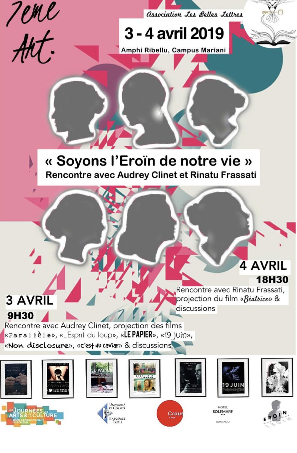 «Les Belles Lettres» organisent une rencontre avec Audrey Clinet et Rinatu Frassati de la boite de production Eroïn le 4 avril à Corte