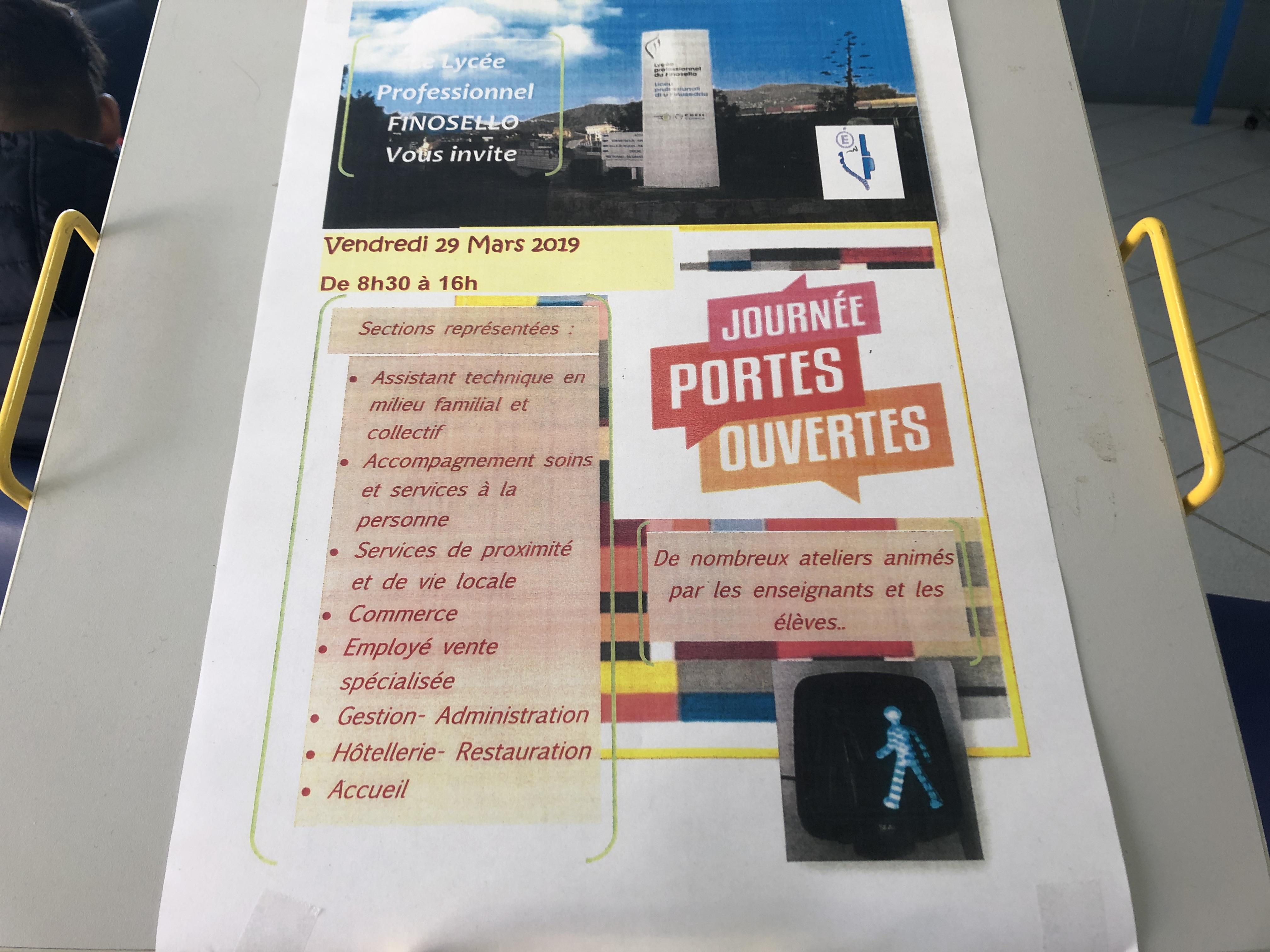 Journées portes ouvertes au Lycée Professionnel du Finosello