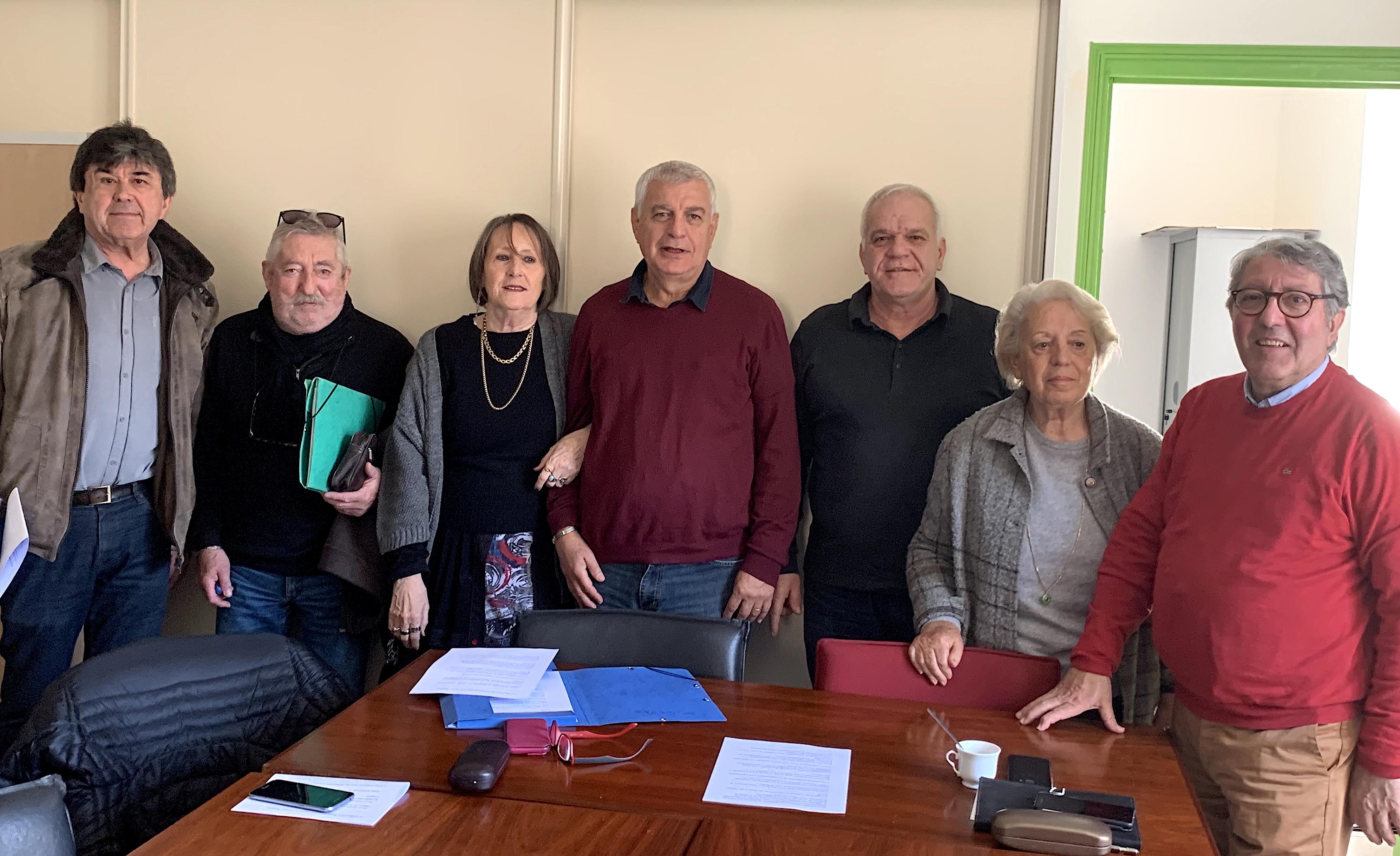 Les premiers membres du bureau du nouveau collectif interassociatif Corse- Santé