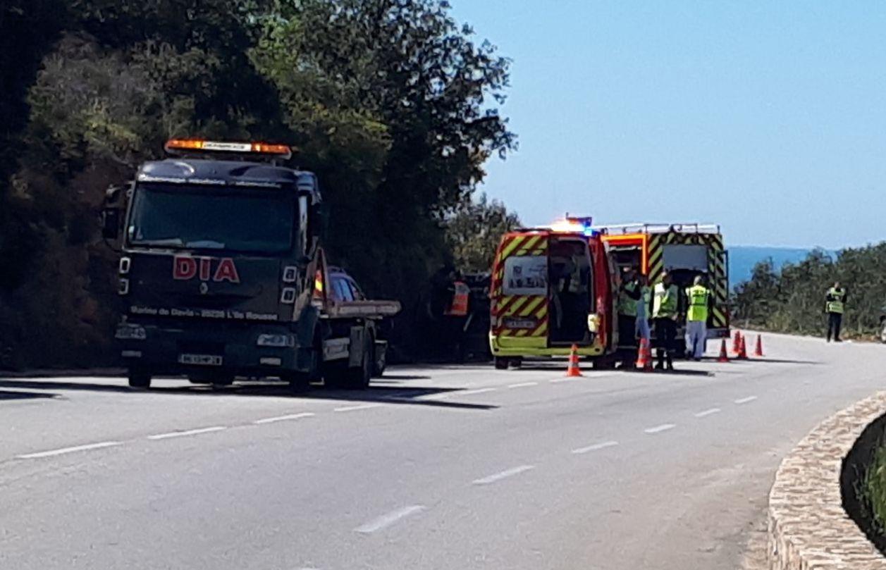 Corbara : Quatre blessés dans deux accidents de la route