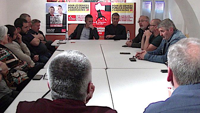 Ian Brossat à l'écoute des syndicalistes et de la population corse