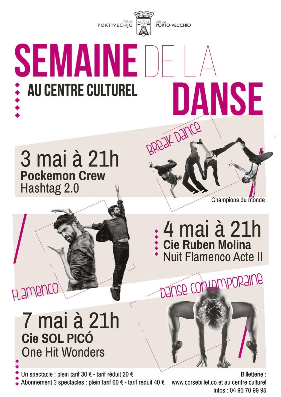 La semaine de la danse à Porto-Vecchio du 3 au 7 mai sur la scène du centre culturel