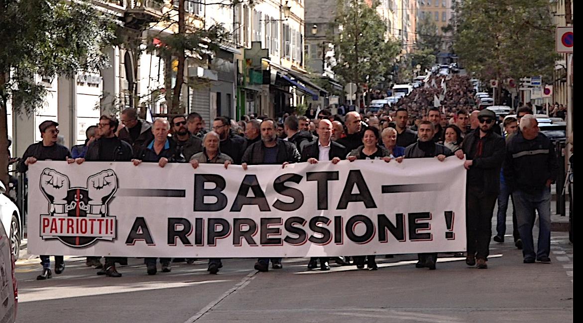 """""""Basta a ripressione"""" : Forte mobilisation dans les rues de Bastia"""