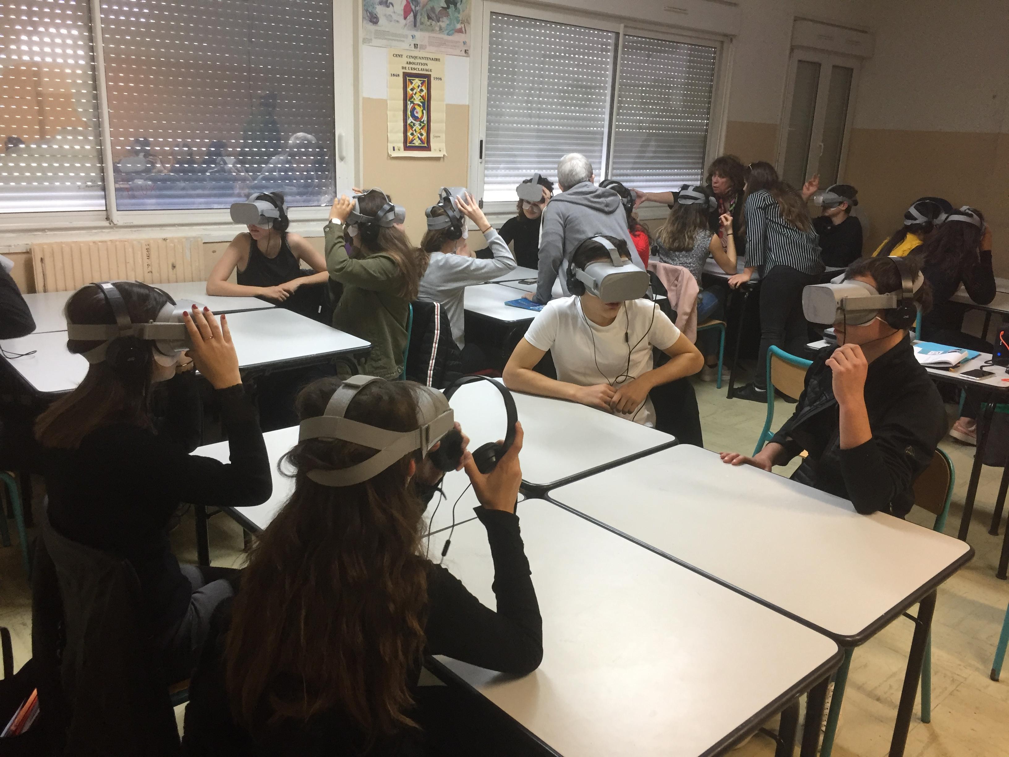"""Opération """"Bon sens, contre sens"""" pour des élèves de Seconde du lycée Giocante de Casabianca à Bastia"""