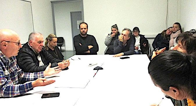L'association des commerçants du port de Porto-Vecchio lors de sa réunion constitutive en Janvier dernier
