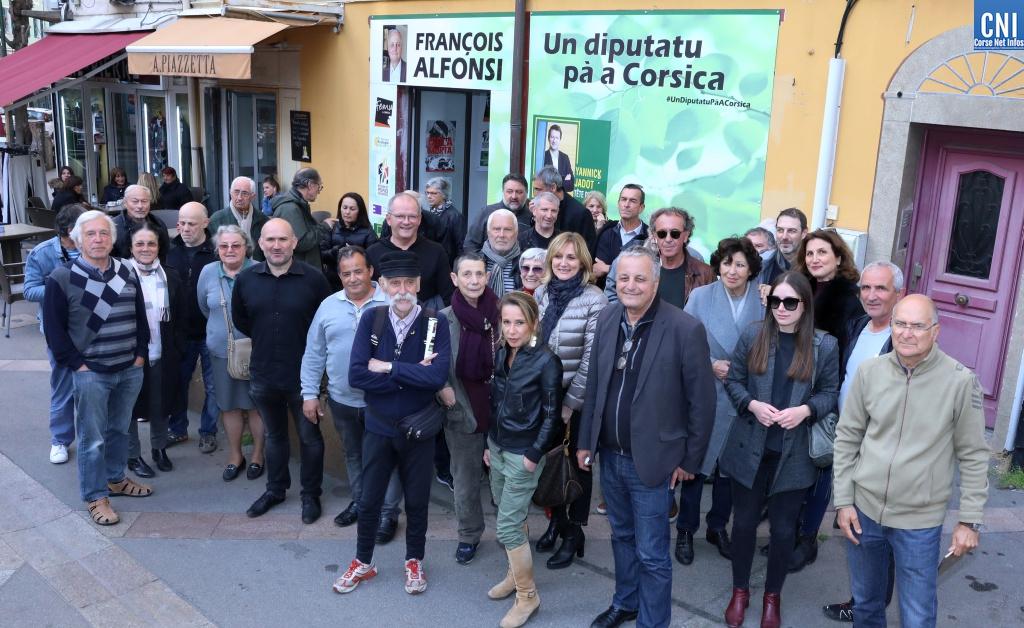 François Alfonsi candidat aux élections européennes en réunion publique à Galeria ce dimanche