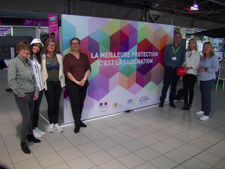Ce mercredi, au Centre Commercial Leclerc Bastia Grand Sud, L'ARS et ses partenaires ont sensibilisé le public à l'importance de la vaccination