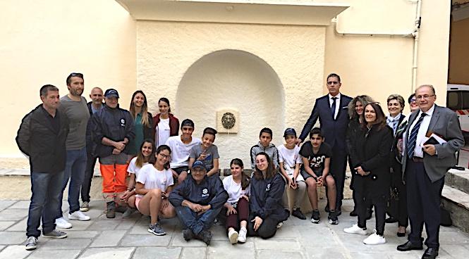 Le maire de Bastia et ses adjoints ont salué le beau travail des collégiens de St Jo et de leurs encadrants.