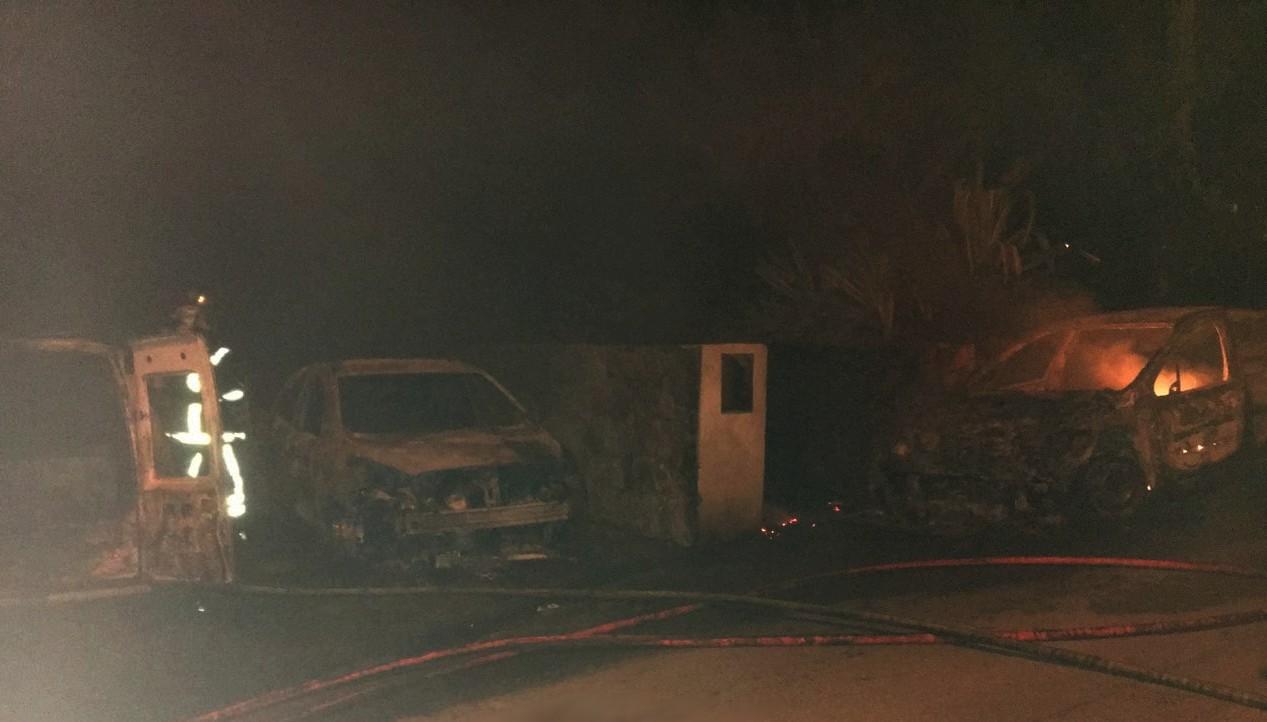 Les trois véhicules étaient stationnés au Hameau de Torre