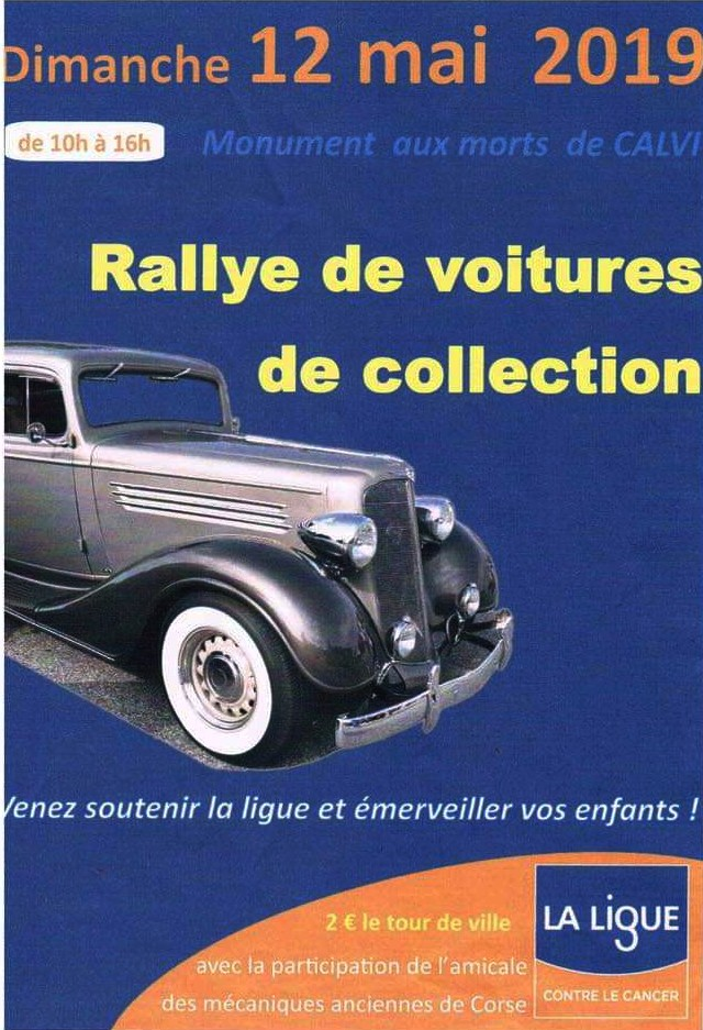 Calvi : Rallye de voitures de collection au profit de la Ligue contre le cancer