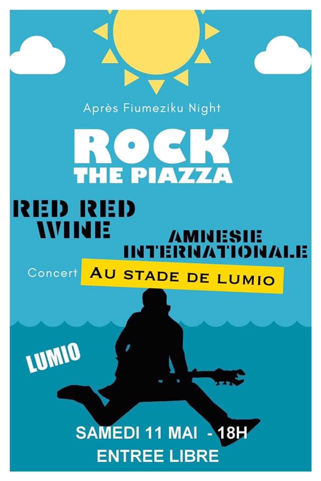 Rock the Piazza au stade de Lumiu le 11 mai