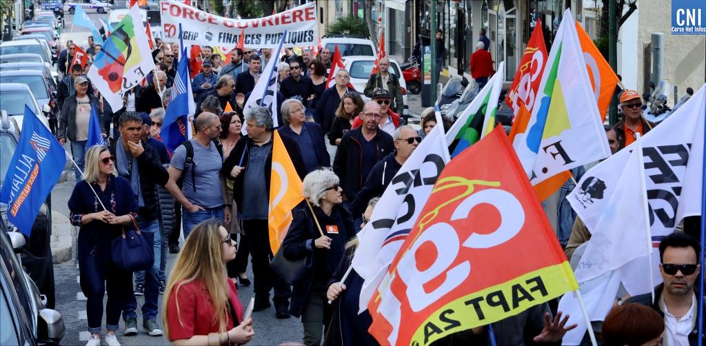 Rassemblement du  9 mai : la fonction publique unie, dans les rues d'Ajaccio