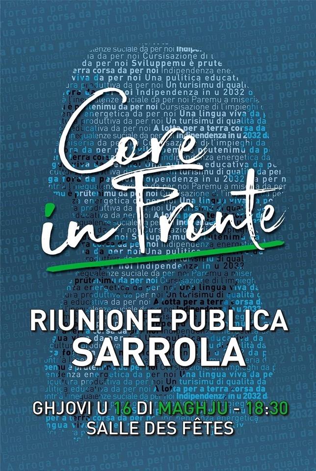 Riunione publica di Core In Fronte in Sarrula 16 di maghju