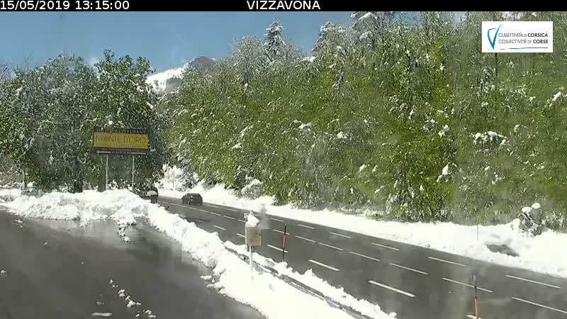 Neige en mai : Le col de Vizzavona réouvert