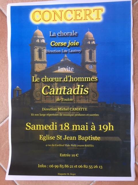 Le chœur d'hommes Cantadis de Toulon et Corse Joie en concert ce samedi à Bastia
