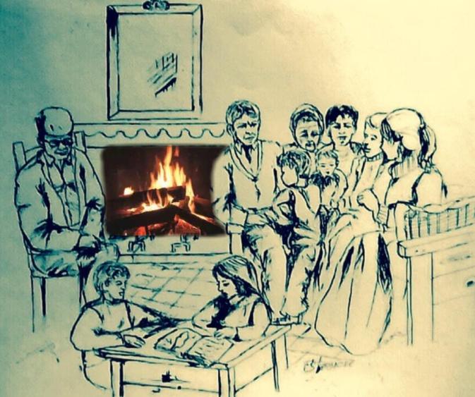 … U tempu passa ma brusgia sempre u focu di a tradizione (Dessin de Francis Stanzione)